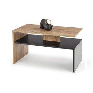 HALMAR Sigma konferenčný stolík dub wotan / čierna