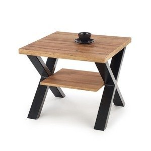 HALMAR Venom KW konferenčný stolík dub wotan / čierna