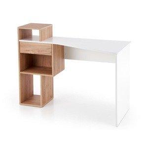 HALMAR Conti písací stolík dub zlatý / biela