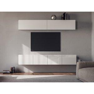 NABBI Mellby 200 obývacia stena biely lesk