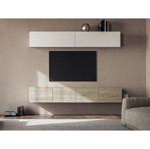 NABBI Mellby 200 obývacia stena dub sonoma / biela