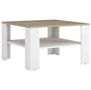 NABBI Lund konferenčný stolík biela / dub sonoma