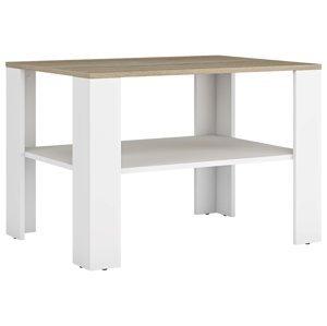 NABBI Lerum konferenčný stolík biela / dub sonoma
