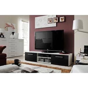 ASM Bono II WSH tv stolík biela / čierna