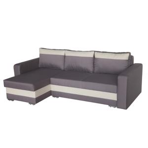 WIP Aleksander L/P rohová sedačka s rozkladom krémová / sivá (mura)