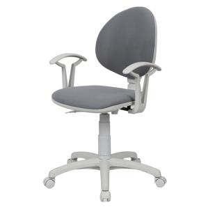NOWY STYL Smart White detská stolička na kolieskach s podrúčkami šedá (C7)