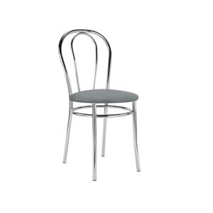 NOWY STYL Tulipan jedálenská stolička chrómová / šedá (V28)