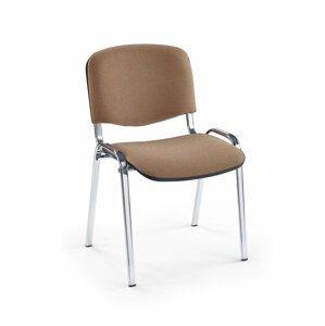 NOWY STYL Iso Chróm konferenčná stolička chrómová / béžová (C4)