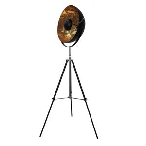 TEMPO KONDELA Jade Typ 6 stojacia lampa čierna / zlatá