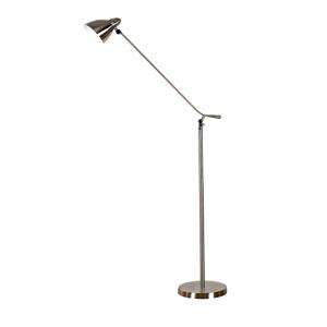 TEMPO KONDELA Cinda Typ 8 F1078 stojacia lampa niklová / sivá