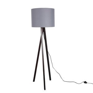 TEMPO KONDELA Lila Typ 10 stojacia lampa sivá / čierna