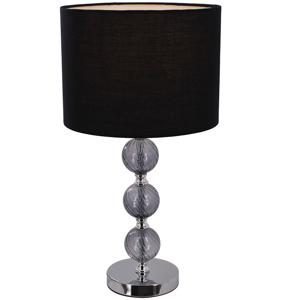 TEMPO KONDELA Jade Typ 7 stolná lampa čierna / chrómová / sivá