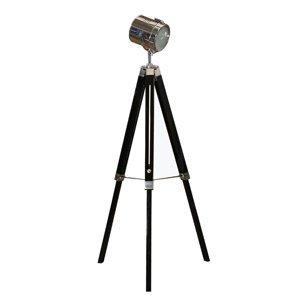 TEMPO KONDELA Cinda Typ 26 YF819-B stojacia lampa čierna / chrómová