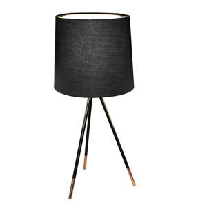 TEMPO KONDELA Jade Typ 4 stolná lampa čierna