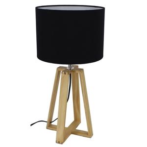 TEMPO KONDELA Jade Typ 3 stolná lampa čierna / prírodná